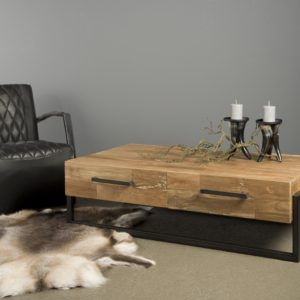 Byron Coffee Table Industrieel Teak 135 Cm