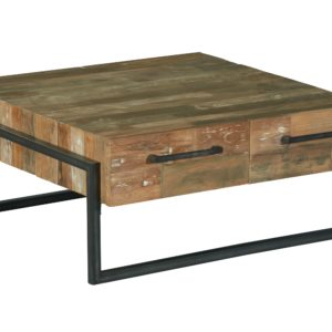 Byron Coffee Table Industrieel Teak Vierkant (1)