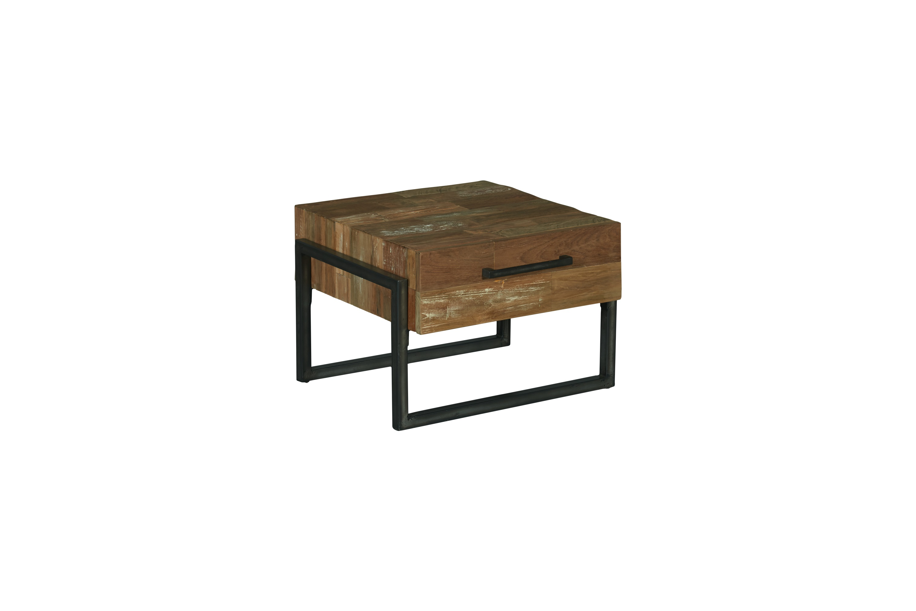 Byron End Table Industrieel Teak 60x60 Cm