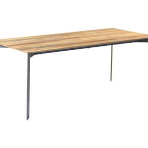 Aberdeen Dining Table Staal Teakhout 180 Cm (3)