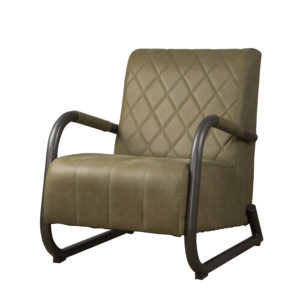 LM 0011 – Ranch Coffeechair – Leather Olive (V)