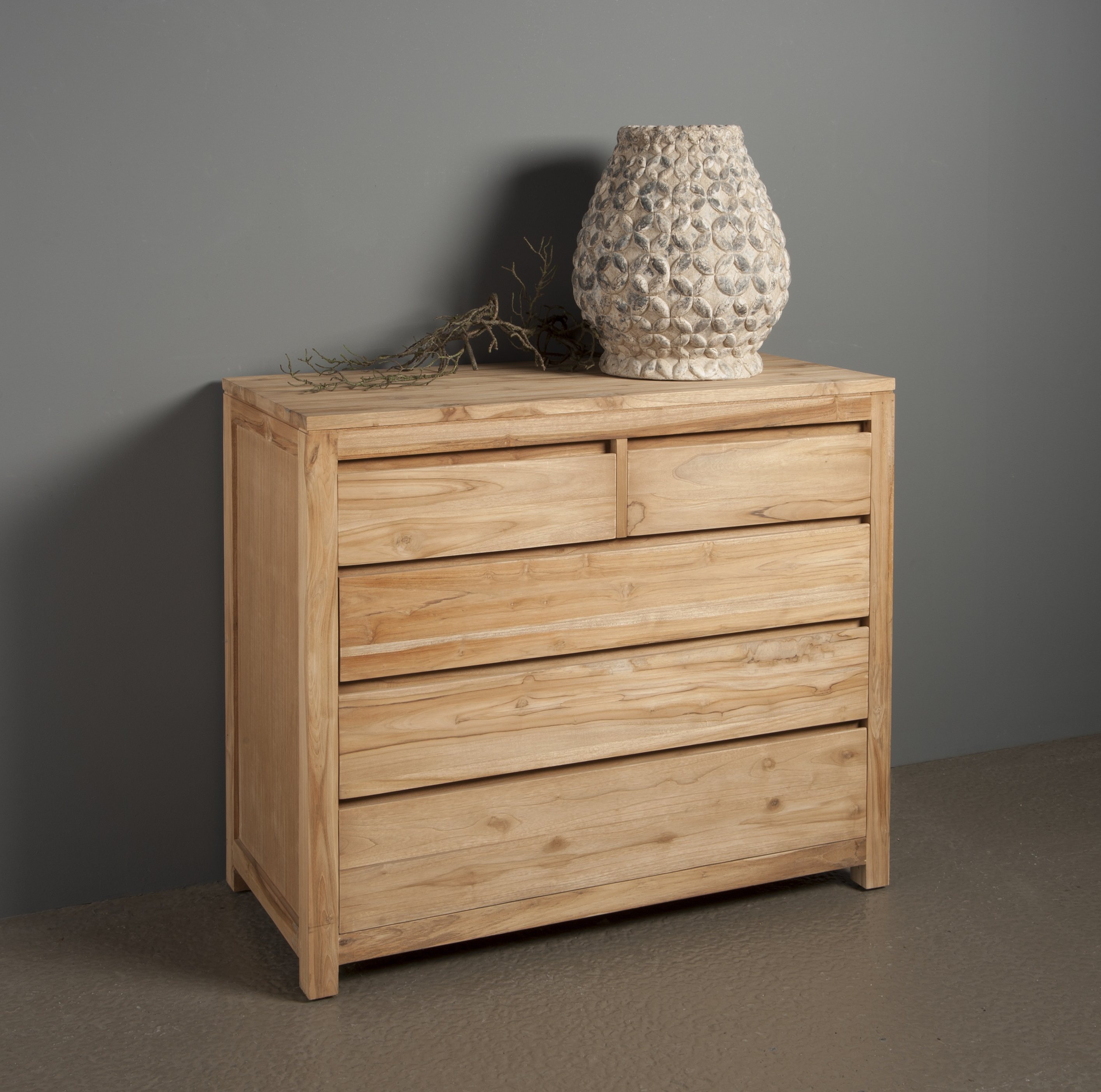 Leeds Commode Teak Natural 110cm