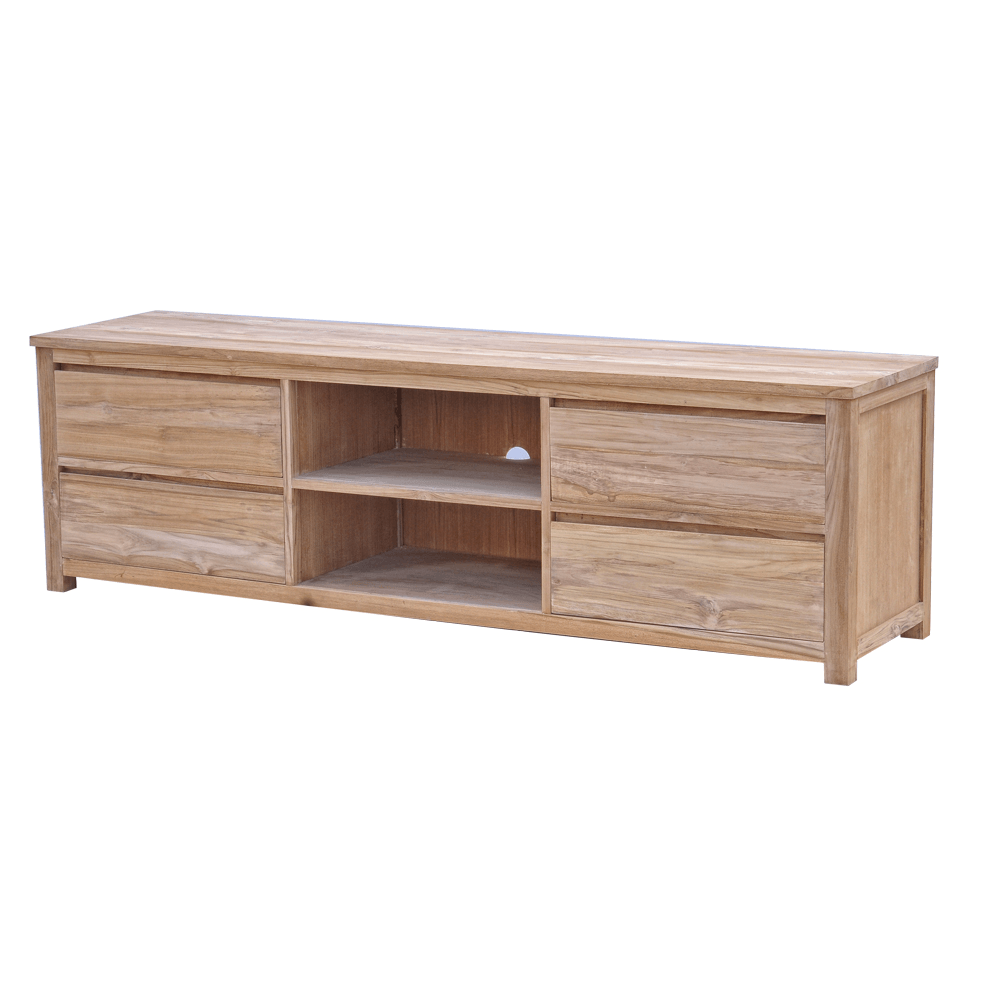 Leeds Tv Meubel Teak Natural 200cm