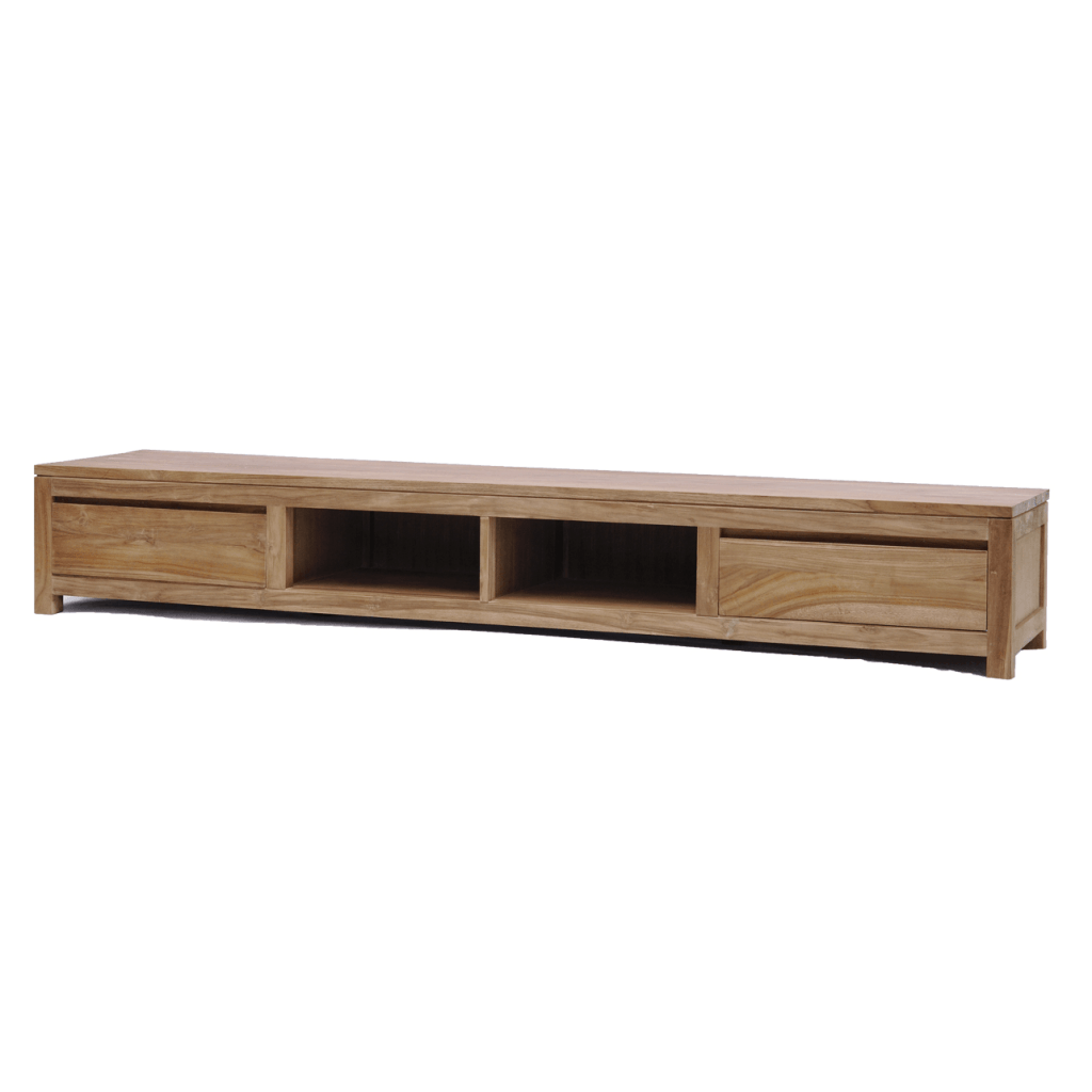 Leeds Tv Meubel Teak Natural 240cm